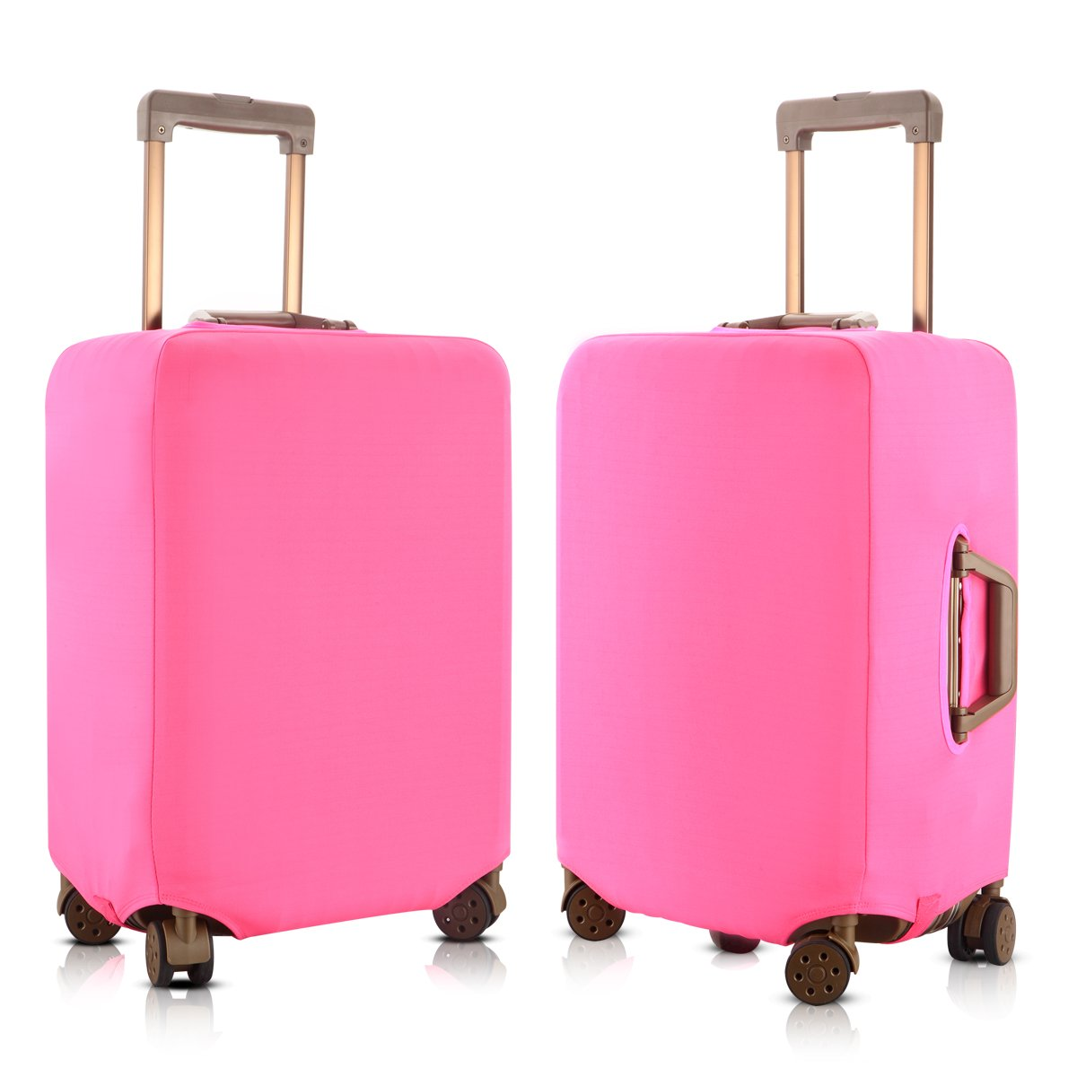 Pink, S Travel Luggage Elastic Cover Suitcase Washable Anti-Scratch Stretchy Protector