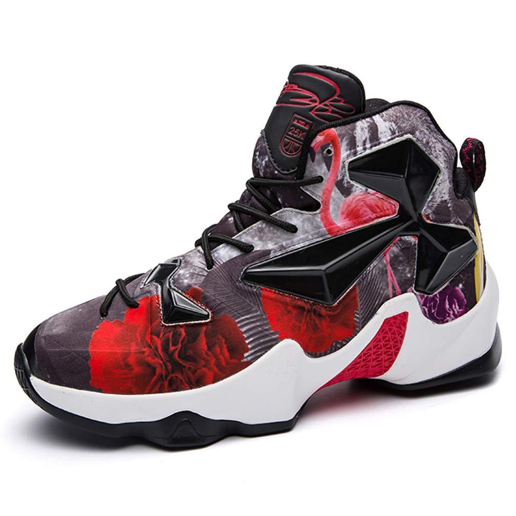 LJG Basketball Schuhe Männer, Sporttrainings Schuhe, Lässige Sportschuhe, Laufschuhe, Hoch, Um Atmungsaktive Anti-Rutsch-Kissen Zu Helfen, Leichtes Wandern, Wärme