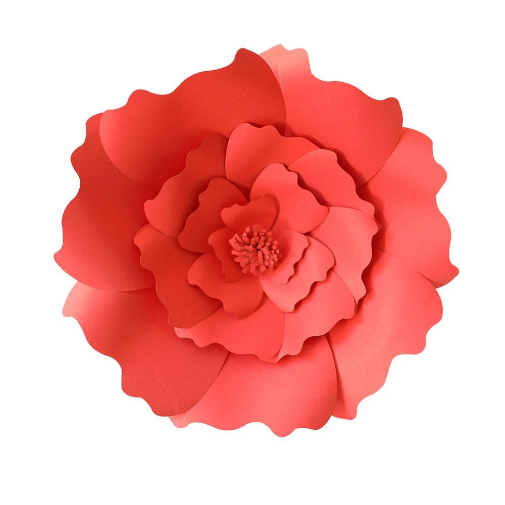 Beige Paper Flower - Aolvo 11.8 Large Papper Flowers Decorations Handcrafted for Nursery Wall/Wedding Backdrop/Birthday/Party/Baby Shower, Free Candle&Hot Melt Adhesive, (8 Colors Can Be Selected)