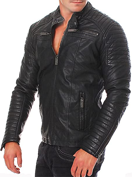 SuperSkySeller - Chaqueta - Biker - para hombre: Amazon.es ...