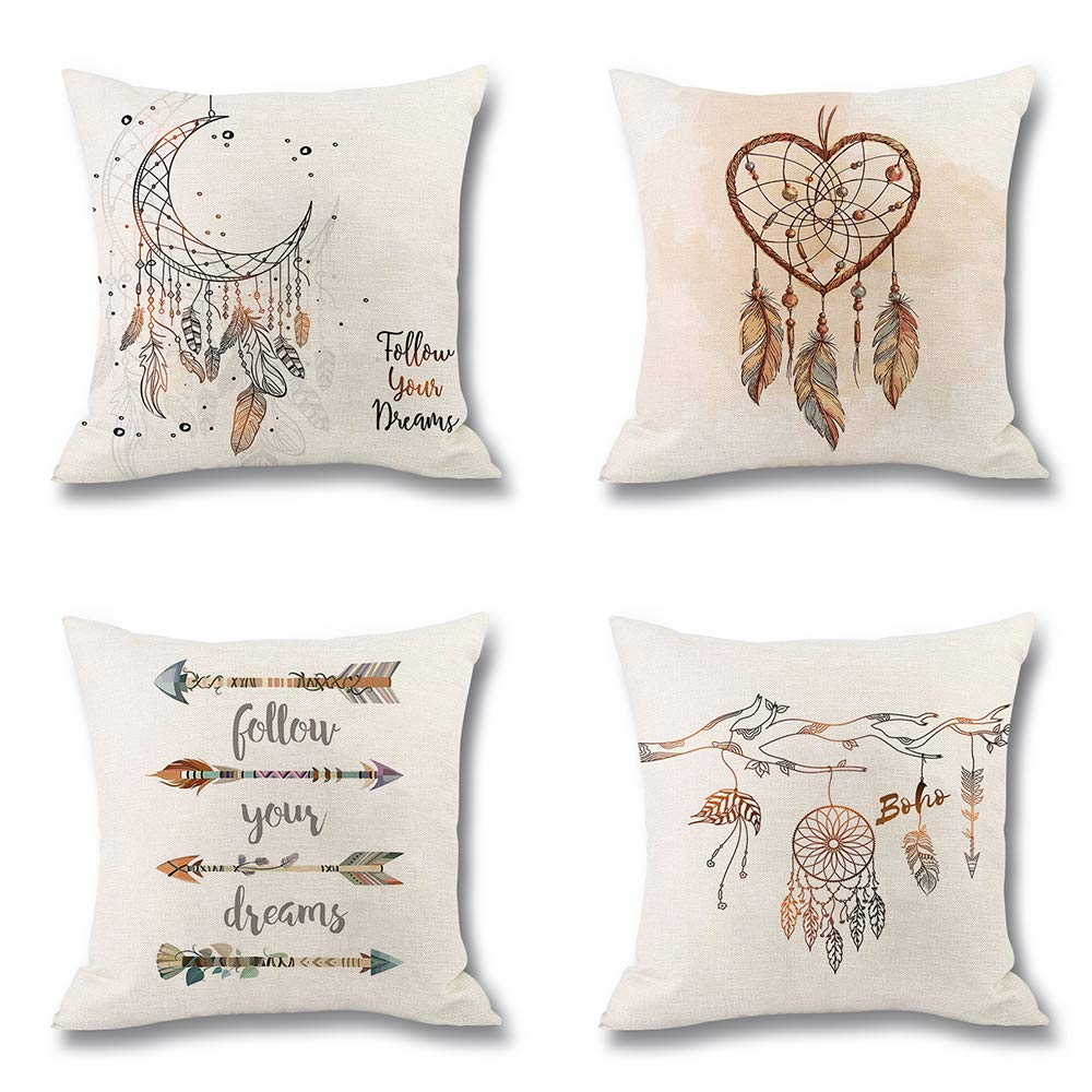 4 pack throw pillow covers