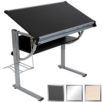 miadomodo escritorio juvenil regulable en altura color negro