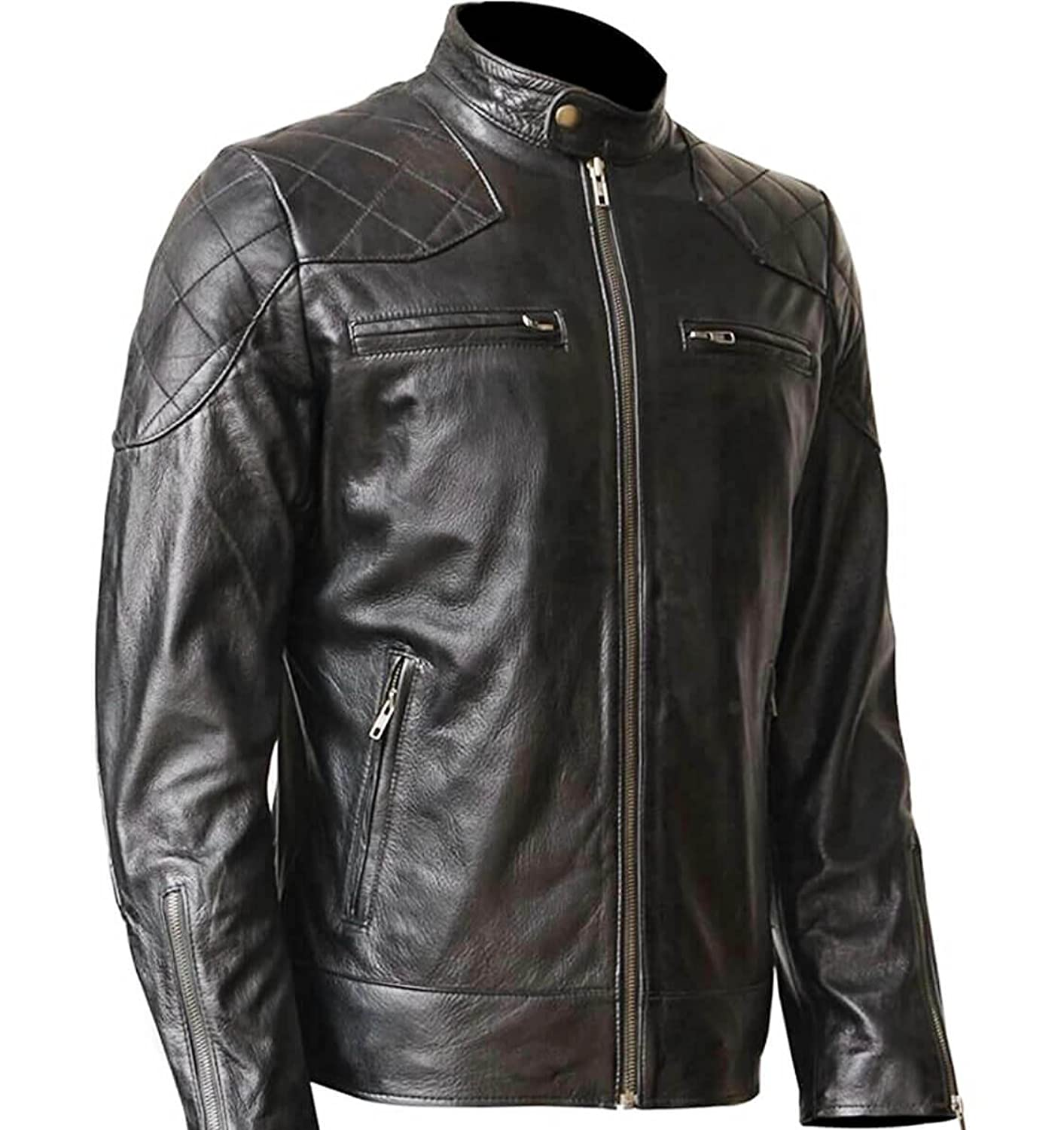 34606123a3191b Top 10 wholesale Leather Jacket With Zippers On Sleeves ...