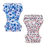 ALVABABY Swim Diapers Large Size 2pcs Reuseable