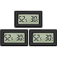 Thlevel Mini LCD digitale thermometer hygrometer temperatuur luchtvochtigheid tester voor koelkast aquarium 3 stuks.