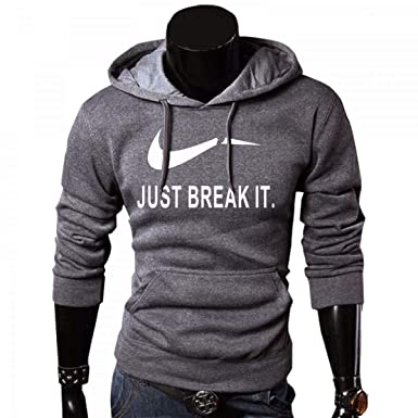 Amazon.com: Hoodies for Men JUST Break IT Sportswear Men Sweatshirt Hip Hop Hoodies: Clothing