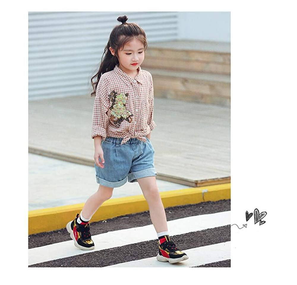 Super explosion Toddler Kids Hook/&Loop Sneakers Litter Boys and Girls Comfortable Running Shoes