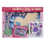 Melissa & Doug Peel and Press Sticker by Number Kit: Mystical Unicorn - 100+ Stickers, Jumbo Frame