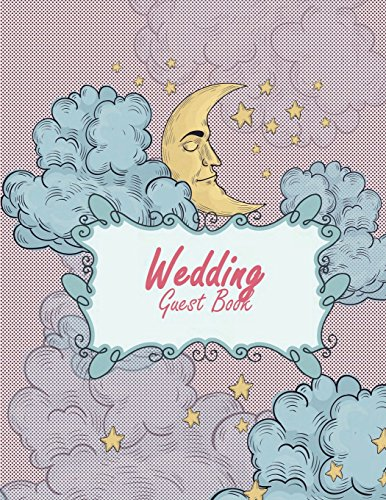 Wedding Guest Book Happy Moon, Email Address Book And Contact Book, with A-Z Tabs Address, Phone, Email, Emergency Contact, Birthday 120 Pages 8.5 x 11 [Planners, Windblown] (Tapa Blanda)