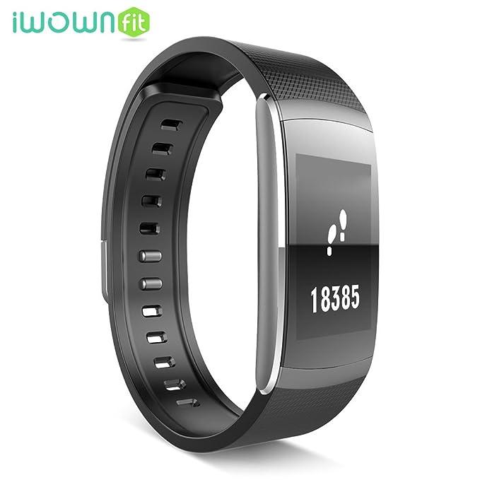 iWOWNfit I6 Pro Pulsera de actividad inteligente con pulsómetro, resistente al agua, Bluetooth, para Android