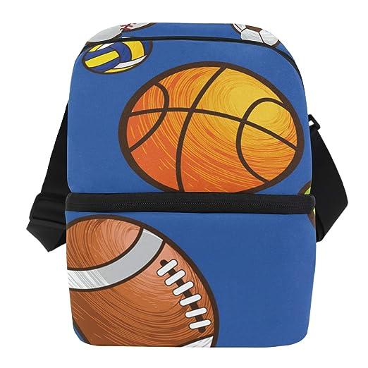 Bolsa de almuerzo con diseño de balón de baloncesto de fútbol ...