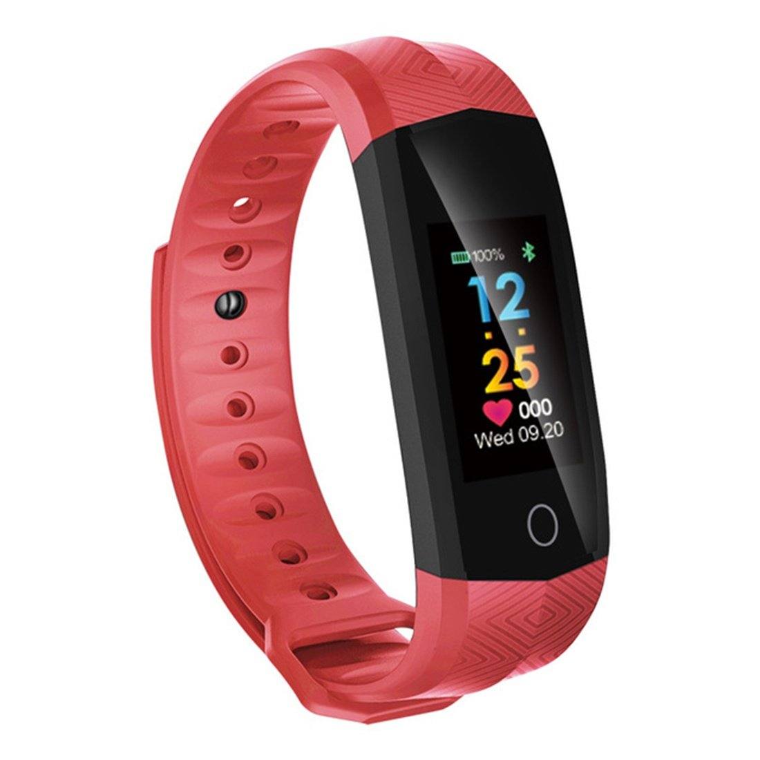Wristbands Waterproof Smart Bracelet Heart Rate Monitor Fitness Tracker Smart Bracelet Color Screen for IOS Android Phone, A