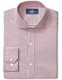 Men's Fitted Cutaway-Collar Pattern Non-Iron Dress Shirt
