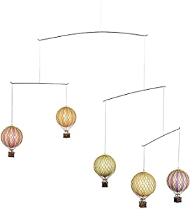 Authentic Models, Flying the Skies Air Balloon, Baby Crib Mobile - Pastel Colors