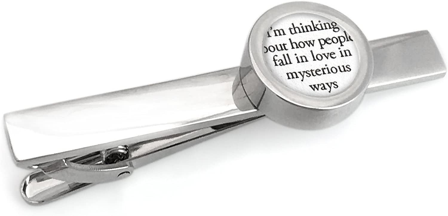 Tie Clip with Your Wedding Song Lyrics/First Idea for Him
