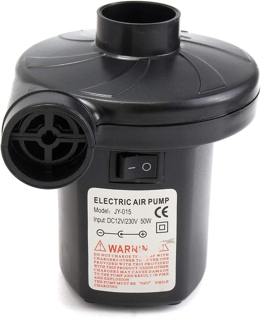 HH-HL Industrial Electric Pump 240V//12V Air Bed Mattress Boat Electric Car Auto Air Pump Inflator with 3 Nozzles Valve Mental Valve