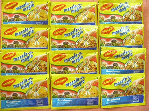12 Sachet Maggi Masala a Magic the First Ever Fortified Taste Enhancer Taste of Indian Food Seasonings 6g X 12 = 72 Gm - Food Seasoning