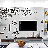 3 stks Muursticker Zwart Unieke Waterdichte Muurtattoo Vlinders en Bloem Behang voor Woonkamer Thuis Slaapkamer TV…