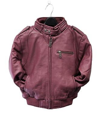 Amazon.com: Childrens Lambskin Moto Bomber Leather Jacket - Infant ...