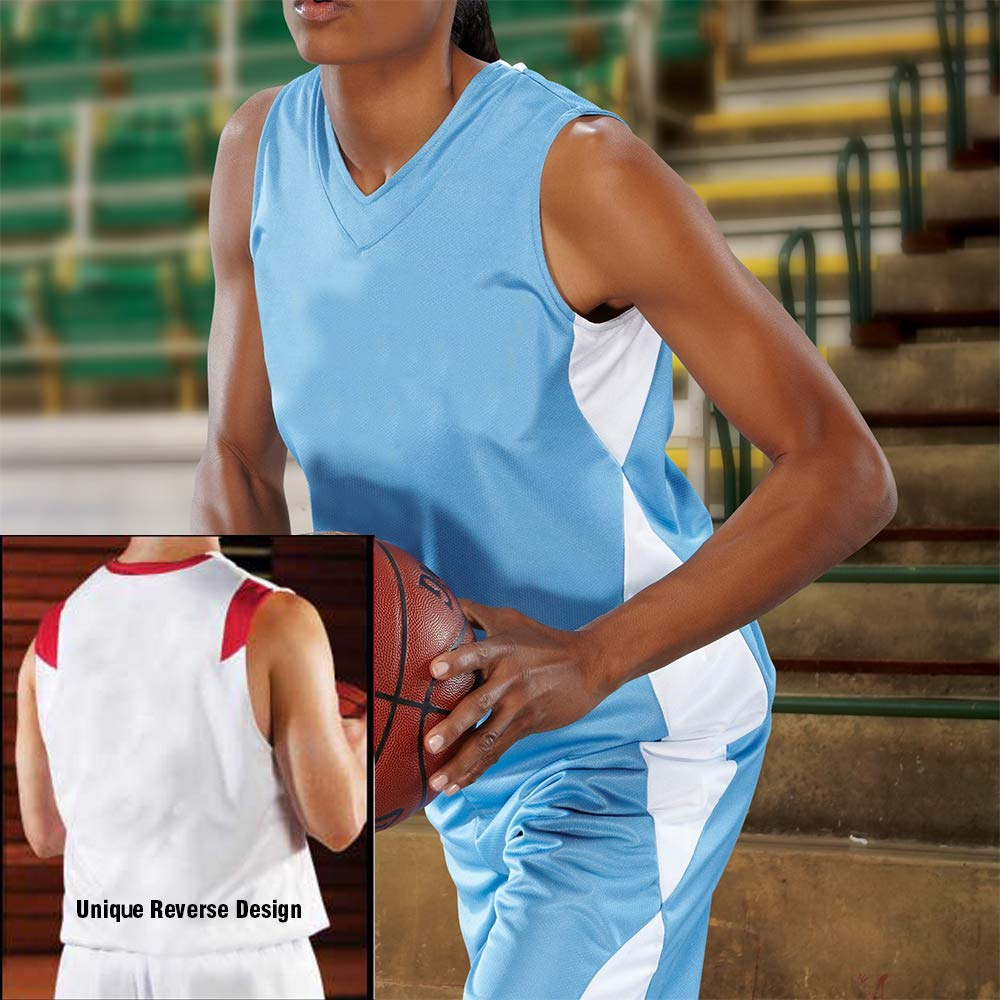 4f1de33f9ee Amazon.com  Women s Overdrive Reversible Basketball Jersey Names Numbers on  Reverse  Clothing