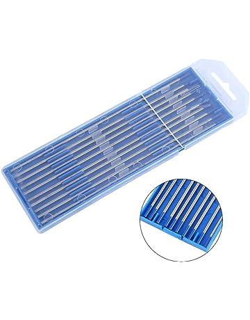 Electrodos de soldadura, 10pcs Electrodos de soldadura de tungsteno Electrodo de Lanthanated Punta azul 1.0