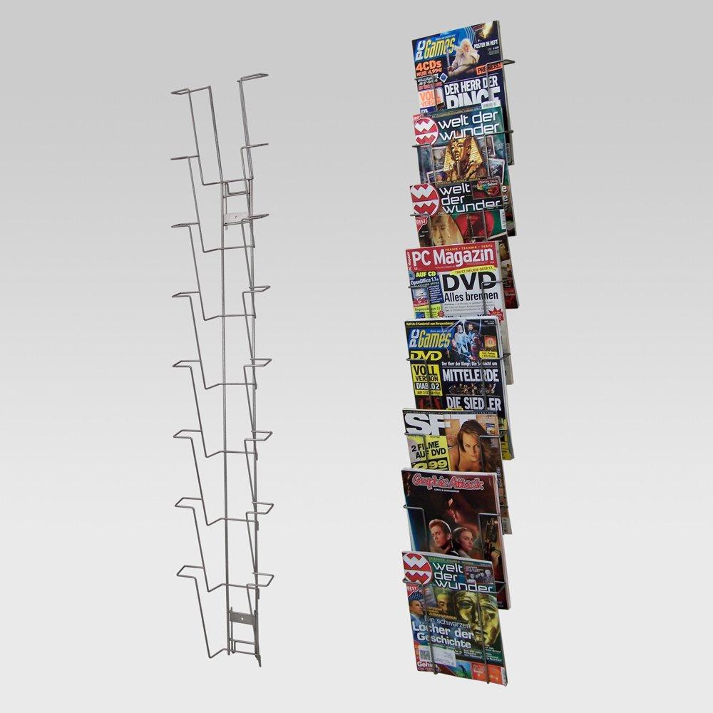 Wandhalter mit 10 F/ächern A3 f/ür Zeitschriften Prospekte