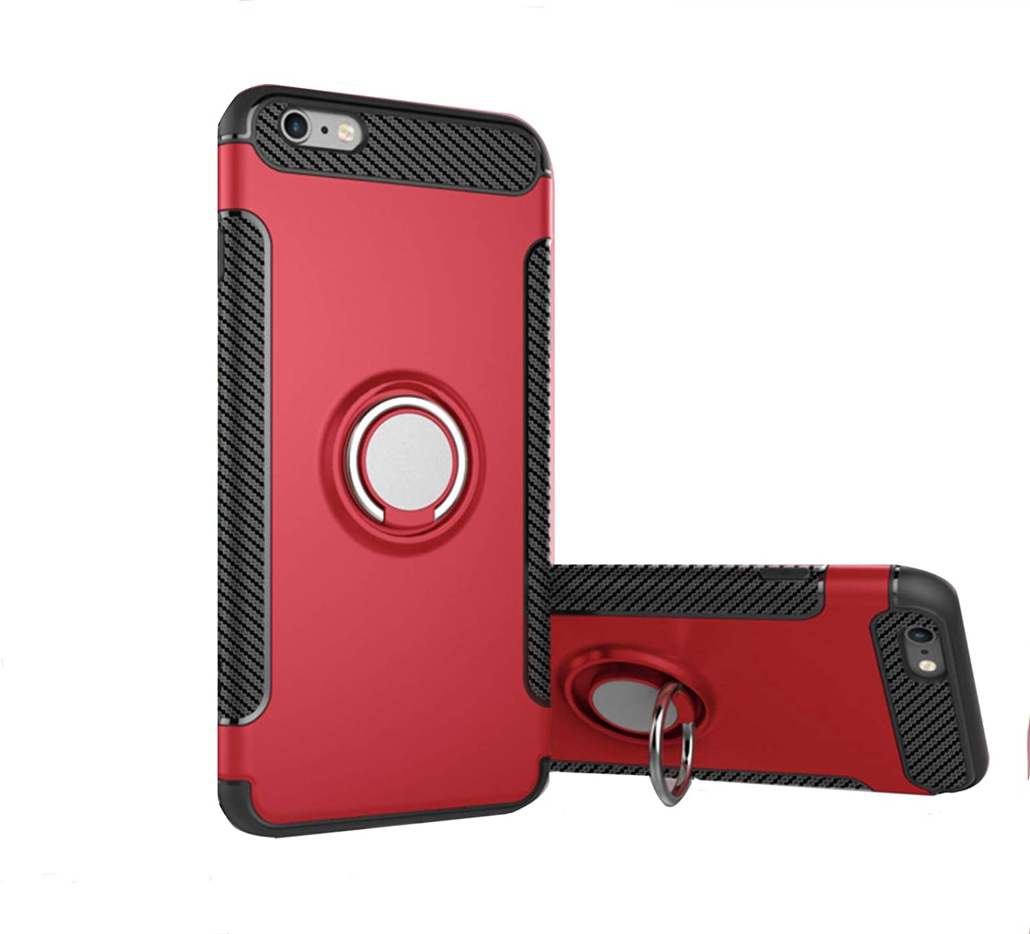 best service b185e f38c1 iPhone 7 Case iPhone 8 Case with 360 Degree Rotation Ring Holder Magnetic  Metal Plate Case | Shockproof Protective Case Cover for Apple iPhone 7 ...