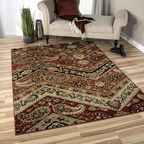 (Orian Rugs American Heritage Paisley Point Area Rug, 5'3