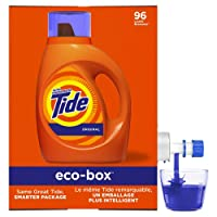 Deals on Tide Laundry Detergent Liquid Eco-Box Original 105-oz 96 Loads