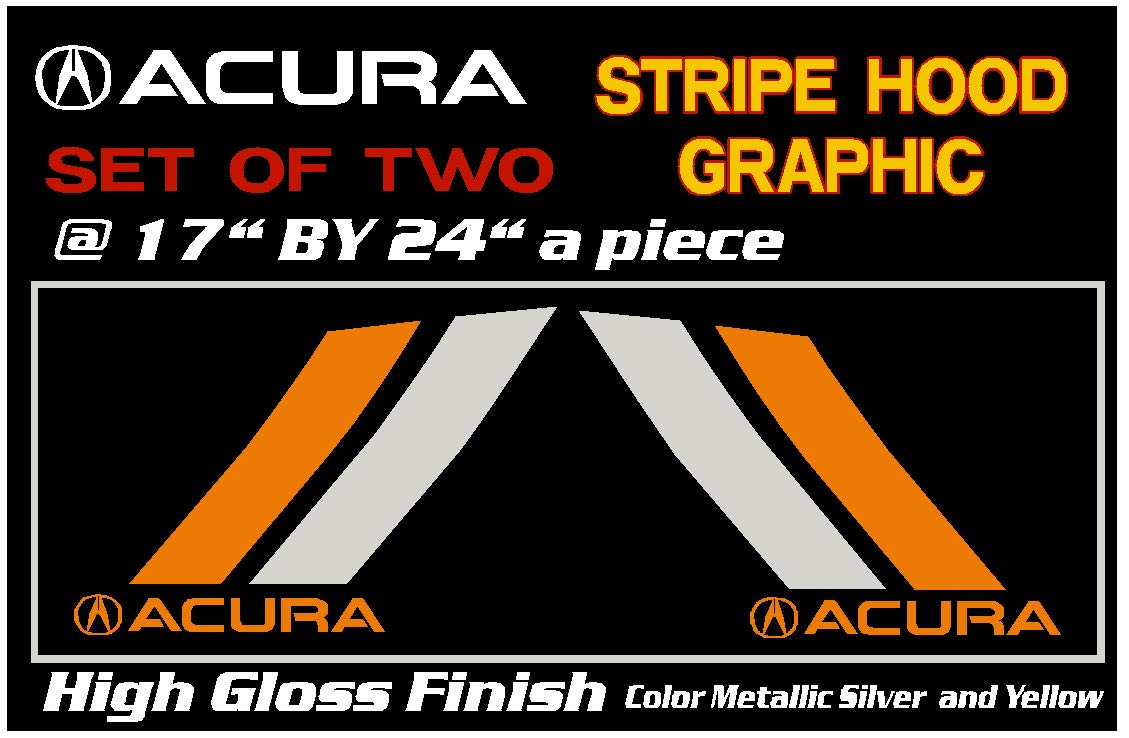 6 to 8 Year Outdoor Life Acura Hood Stripes Decal Slash Stripes Decal Slash Stripes Sticker Slash Stripes Graphic.