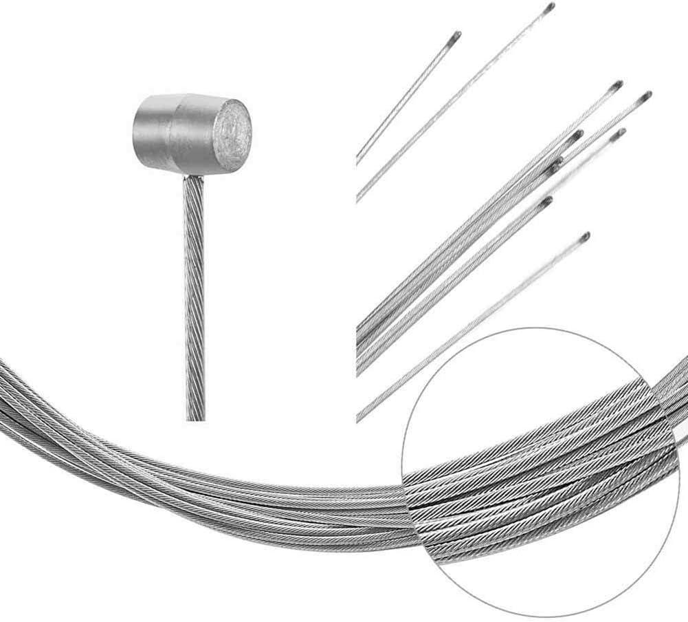 for MTB 5.7ft Silver 10pcs Brake Cable Set Road Bikes and Folding Bikes