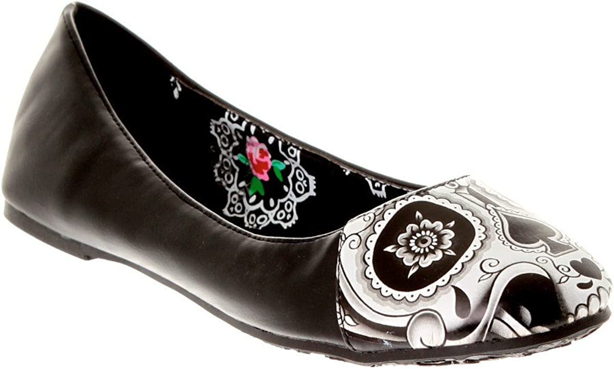 Black Peek A Boo Flat Shoes
