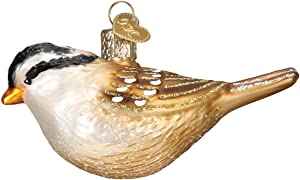 Old World Christmas White Crowned Sparrow Ornament, Multi