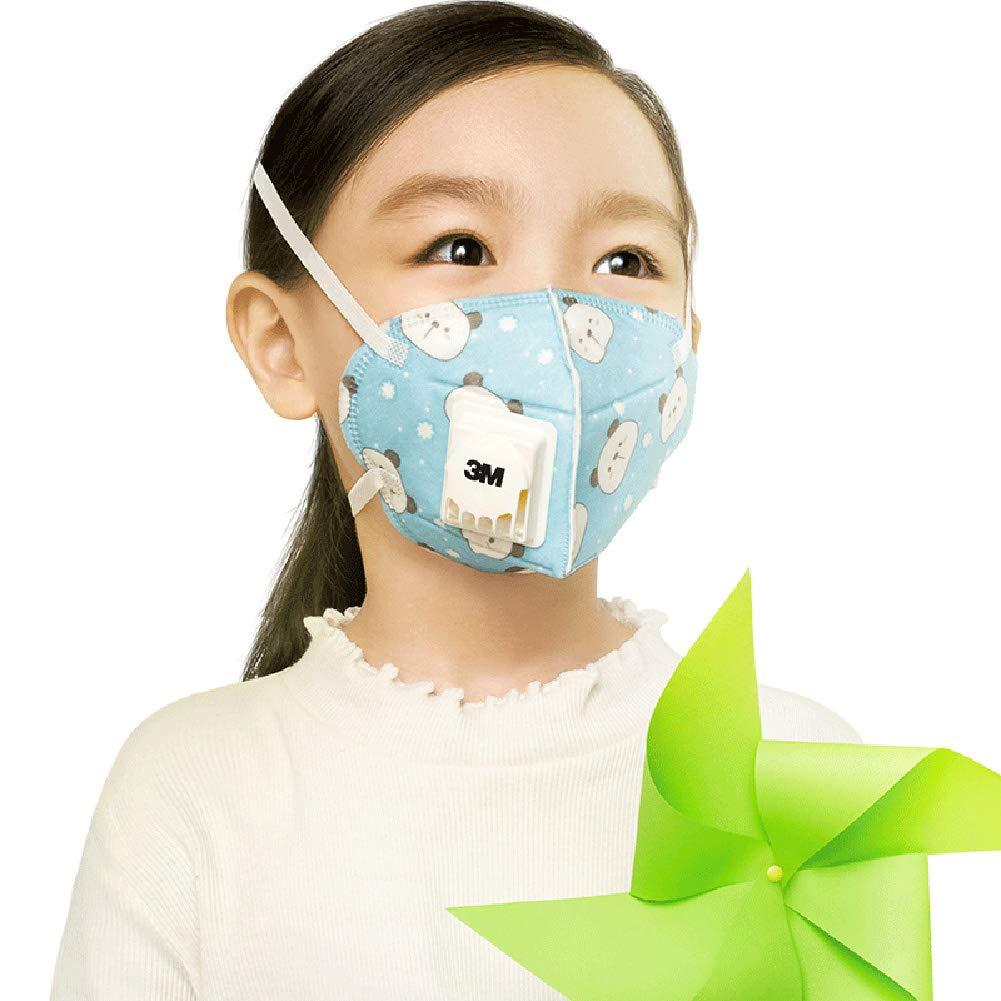 PM2.5 m/áscaras Calientes de los ni/ños Anti-Polvo Anti-Niebla y la bruma Transpirable y f/ácil Respirar en Invierno,M3 MFWFR M/áscaras de los ni/ños