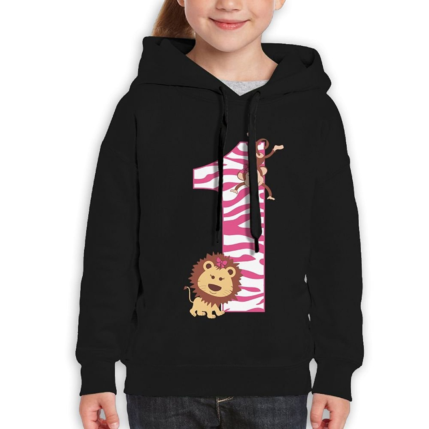 Starcleveland Teenager Pullover Hoodie Sweatshirt Its My 1st Birthday Little Monkey Teens Hooded Boys Girls