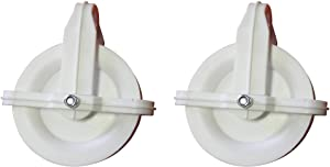 "2 Pack Clothesline Pulley HIGH Grade Impact Plastic 4"" Wheel Weather Resistant"