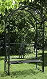 Lattice Arbor with Bench