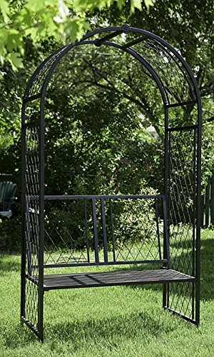 Lattice Arbor with Bench by Panacea