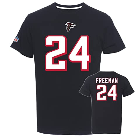 Majestic NFL Fan Camiseta – Atlanta Falcons 24 Devonta Freeman, hombre, negro, xx