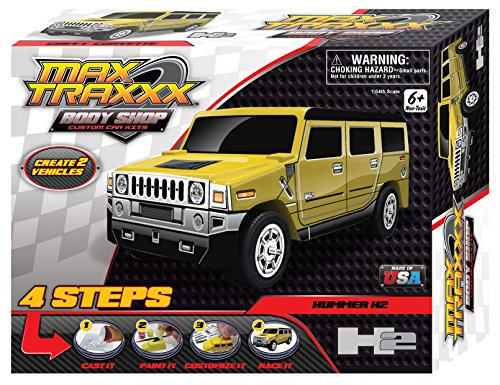 Max Traxxx Award Winning Body Shop PerfectCast Hummer H2 Car Cast, Paint and Play Craft Kit - Hummer Model Kit