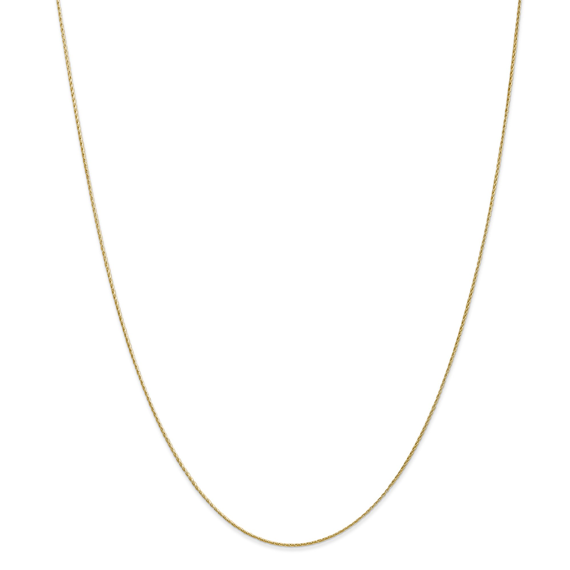 ICE CARATS 14k Yellow Gold .7mm Baby Parisian Link Wheat Chain Necklace 18 Inch Spiga Fine Jewelry Gift Set For Women Heart
