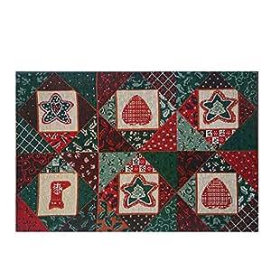 Navidad Felpudo antideslizante parte inferior para interior exterior (29,5x 17,7cm)