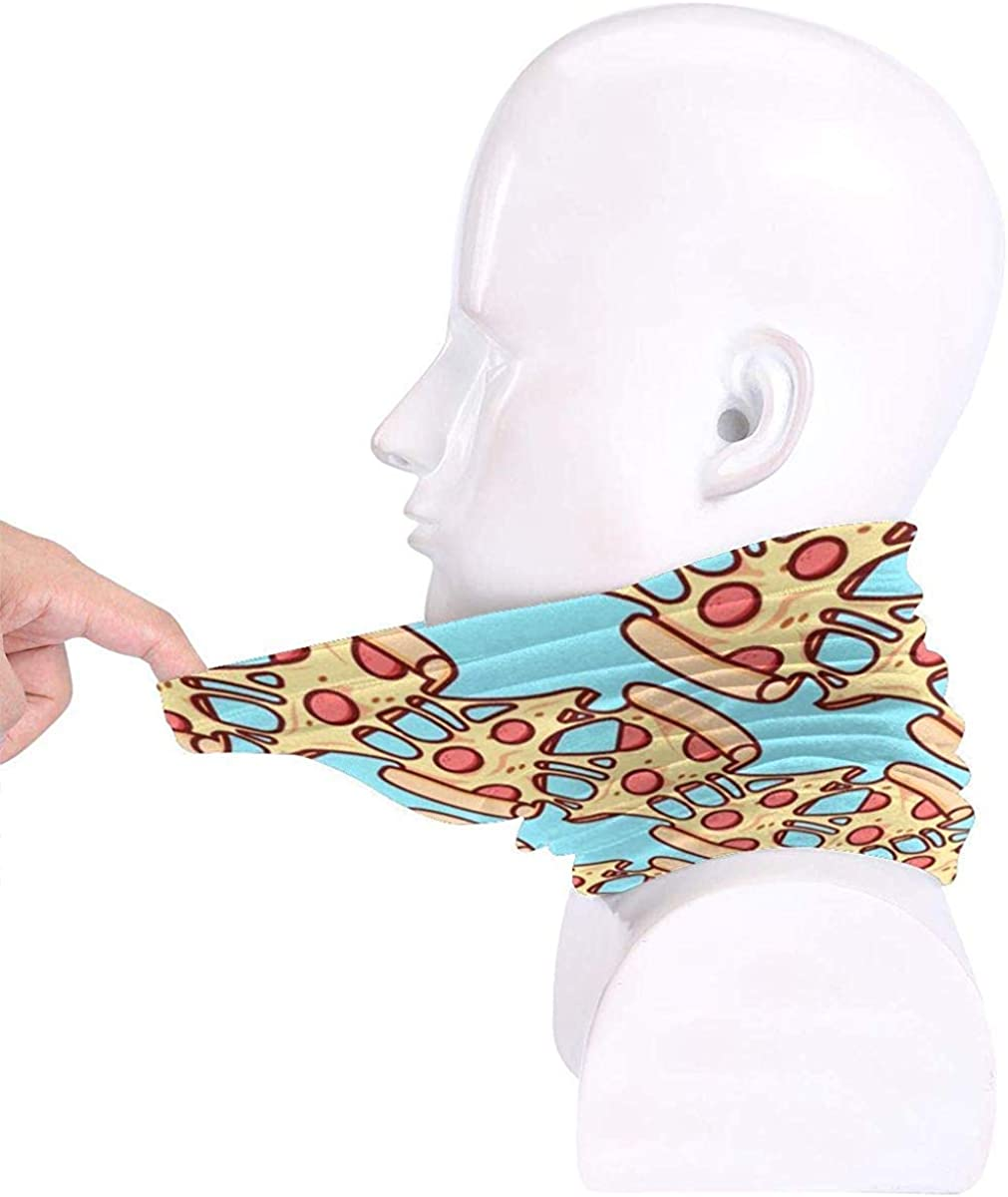 Pizza Pattern Microfiber Neck Warmer Balaclavas Soft Fleece Headwear Face Scarf Mask for Winter