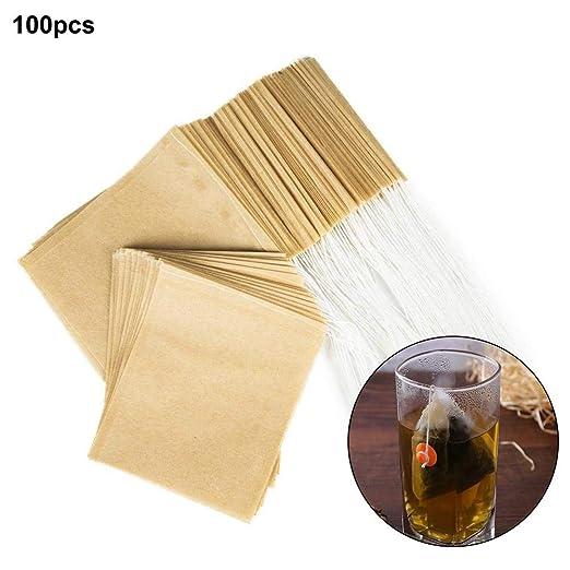 Cokeymove Bolsas de Filtro de té 100PCS, infusor de té ...