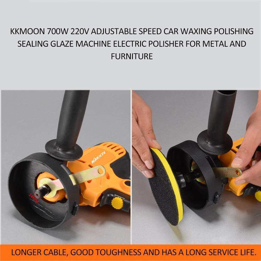Kkmoon Poliermaschine 700w Elektrischer Polierer Einstellbare Geschwindigkeit Auto Wachsen Polieren Elektrische Poliermaschine Für Metall Und Möbel Baumarkt