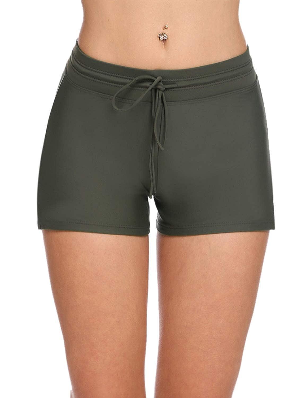Badeshorts Damen Sport Bikinihose Fashion Casual Strand Hot Pants Bequeme Größen Elegante Elastische Taille Atmungsaktiv Schnelltrockend Kleidung Shorts Schwimmhose