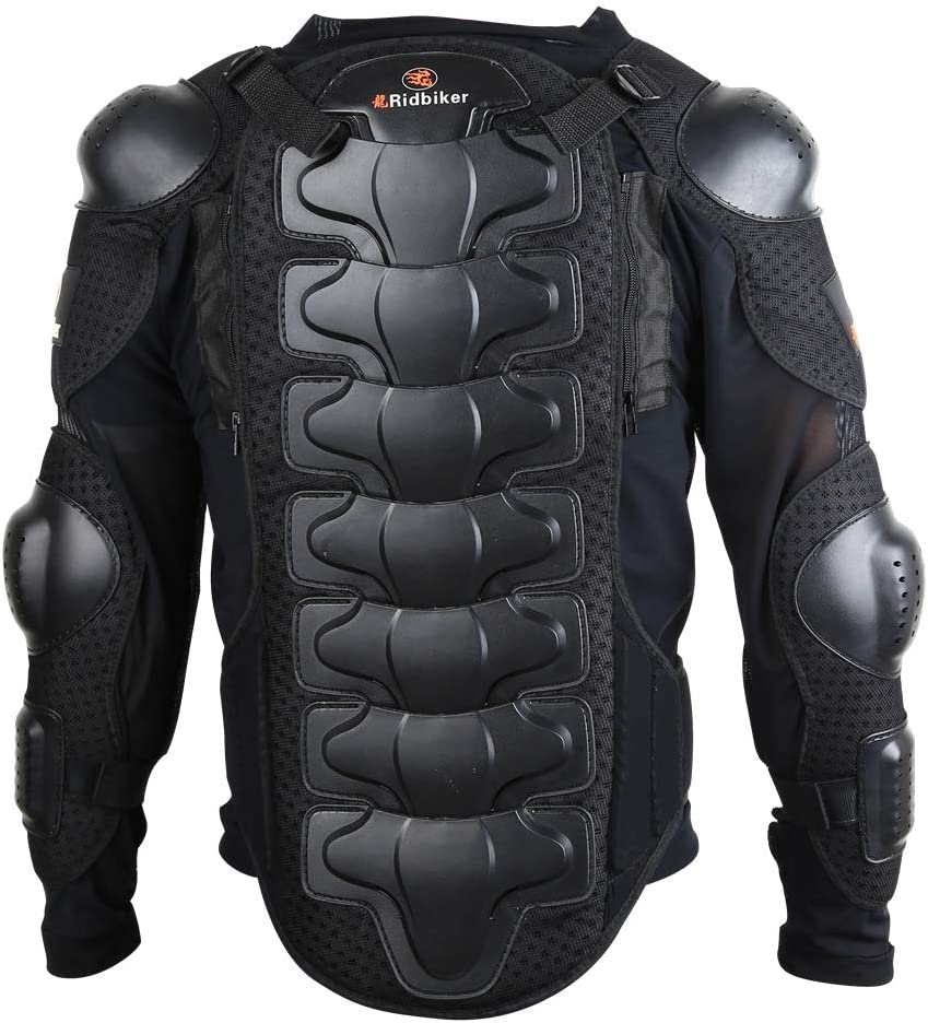RIDBIKER Kids Full Body Armor Protective Jacket for Motorcycle Motocross Dirt Bike Racing Skiing Skating Children Breast Chest Spine Protector Gear Guard Black