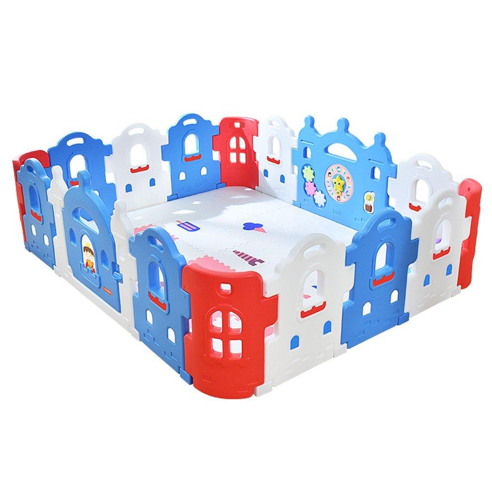 HUO 色の妖精の赤ちゃんPlaypenの子供ゲームステーションとセキュリティ活動センター 省スペース (サイズ さいず : 167 * 207cm) 167*207cm  B07GDDCCKG