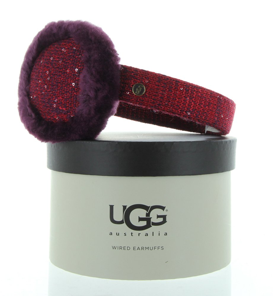 UGG Australia Womens Classic Marled Tech Earmuff with Sequins Aster Multi One Size