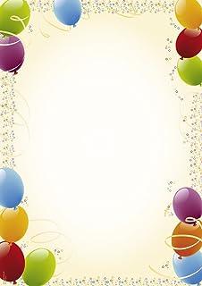 Tatmotive Briefpapier Geburtstag Einladung 25 Sets Mit Passenden